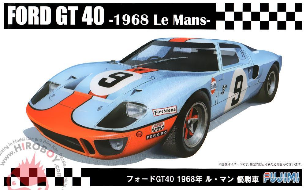 1 24 Ford Gt40 1968 Le Mans Winner Gulf Fuj 126050