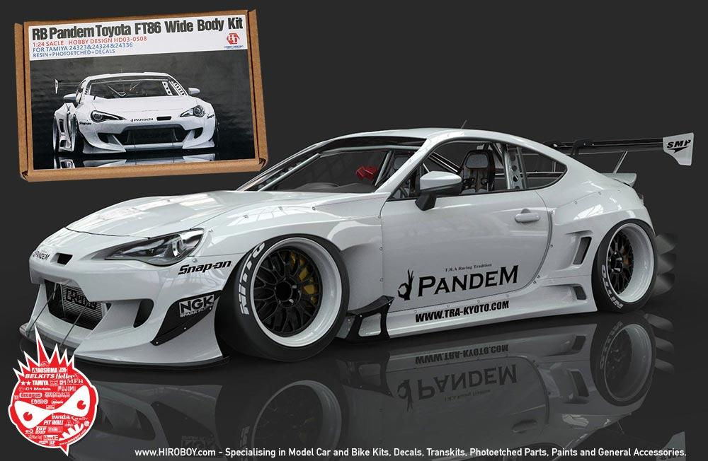 1 24 rocket bunny gt86 v3 wide body kit for tamiya gt86 fr. Black Bedroom Furniture Sets. Home Design Ideas