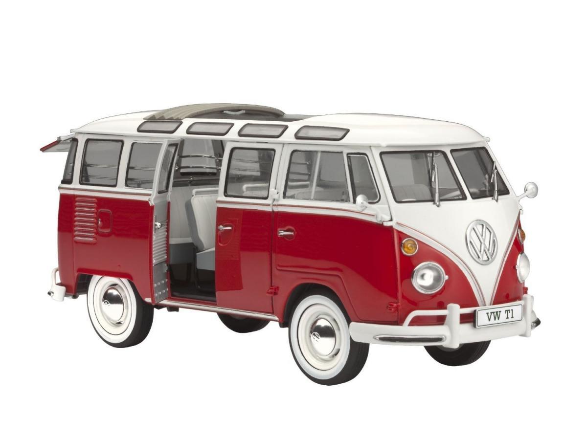 1 24 vw volkswagen t1 samba bus 23 window rev07399. Black Bedroom Furniture Sets. Home Design Ideas