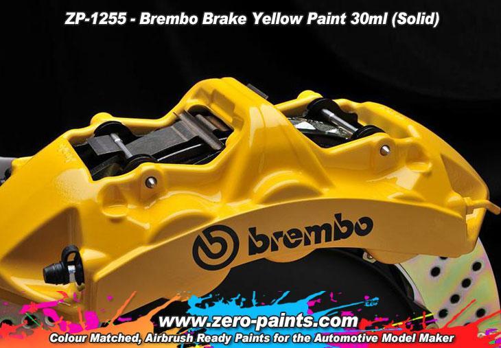 Brembo Brake Caliper Yellow Paint 30ml Zp 1255 Zero Paints