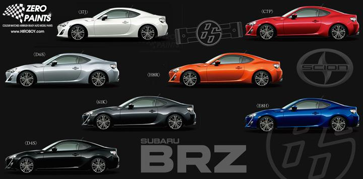 toyota gt86 scion fr s subaru brz paints 60ml zp 1204 zero paints. Black Bedroom Furniture Sets. Home Design Ideas
