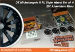 1:24 20inch OZ Michelangelo II PL Wheel Set (Deluxe Version)