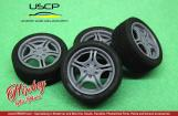"1:24 BMW Original Styling 68 17"" Wheels with Tyres"