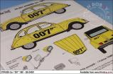 "1:24 Citroen 2CV ""007"" 1981 Decals and Resin"