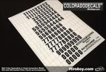 1:24 Door Number Decals Part 1 Large