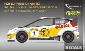 1:24 Ford Fiesta WRC Kubica - 34. Rally International Casentino 2014 Decals