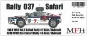 1:24 Lancia 037 Rally : Martini Racing 1984 WRC Rd.4 Safari Rally #7 Alén/Kivimaki - Multi-Media Kit