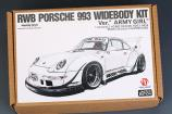 "1:24 RWB Porsche 993 Widebody Kit For Ver.""Army Girl""  (Resin+PE+Decals+Metal parts)(HD03-0459)"