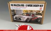 1:24 Rocket Bunny Mazda MX-5 Wide Body Transkit (Resin+PE+Metal parts)
