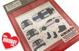 1:25 2010 - 2013 Ford Mustang GT500 Racing Stripes Decal Set - Blue