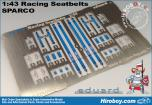 1:43 Sparco 4 Point Harness - Blue