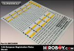 1:24 European Registration Plate Decals (Great Britain & France)