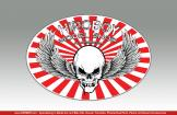 Hiroboy Winged Skull Sticker 100mm