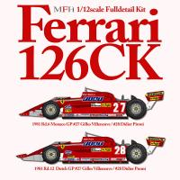1:12 Ferrari 126CK Ver.A : 1981 Rd.6 Monaco GP - Full Detail Kit