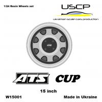 1:24 ATS Cup 15'' Wheels with Stance Tires