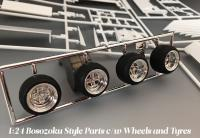 1:24 Bosozoku Style Parts c/w Decals, Wheels and Tyres #46