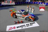 1:24 Flying Lizard 2007 Le Mans Livery for Porsche 911 GT3 (Fujimi)