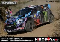1:24 Ford Fiesta RS WRC #43 Ken Block/Alex Gelsomino Rally Mexico 2013 Decals