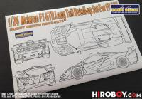 1:24 Mclaren F1 GTR Long Tail Detail-up Set for Fujimi