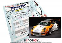 1:24 Porsche 911 GT3 R 2010 Hybrid Decals For Fujimi
