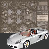 1:24 Porsche Carrera GT Photoetched Detail Set #8018