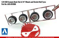 "1:24 SSR Formula Mesh (Set A) 14"" Wheels and Stretch Wall Tyres"