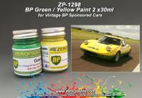BP Green and Yellow Paints - 2x30ml