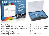 Gravity Feed Double Action Airbrush