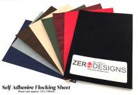 Multi Pack - Black/Red/Beige/Grey/Blue - Self Adhesive Flocking Sheets