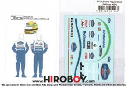1:12 Figure Decal Ayrton Senna (Williams 1994)