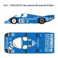 1:12 Porsche 956 Long Tail Kennwood Ver C Ful Detail Kit