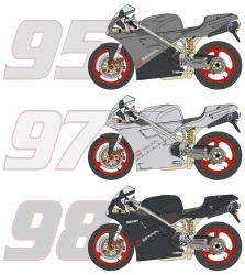 1:12  Ducati 916 Senna 95 '/ 97' / 98 'Transkit (Resin, Photoetch and Decals)