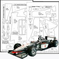 1:20 McLaren MP4/13 Carbon Fiber Template Set #7116