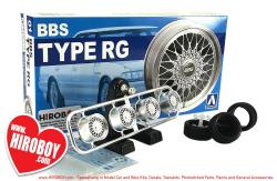 "1:24 BBS Type RG 17"" Aoshima Wheels and Tyres"