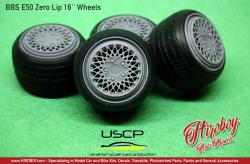 "1:24 BBS e50 Zero Lip 16"" Wheels with Tyres"
