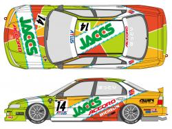 1:24 Jaccs Honda Accord 1996 Decals (for Tamiya kit #24180)