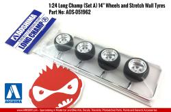 "1:24 Long Champ (Set A) 14"" Wheels and Stretch Wall Tyres"