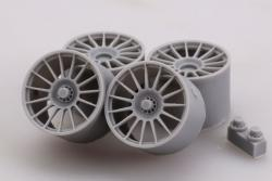 1:24 Mclaren MP4-12C GT3 Racing Wheels Set (2) Photoetched/Resin Detailing Set (Fujimi)