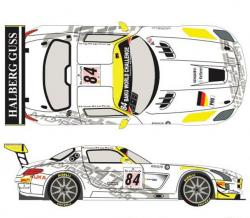 1:24 Mercedes SLS GT3 #84 Spa 24h 2013 Decals