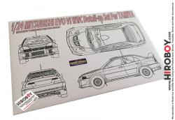 1:24 Mitsubishi Evo VI WRC Photoetch Detail-Up Set for Tamiya