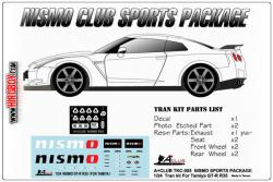 1:24 Nismo Sports Package for Nissan R35 GT-R  (Tamiya)