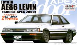 1:24 Toyota AE86 Levin 1600 GT Twin Cam (2 Door) '85 Model Kit