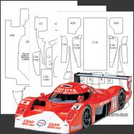 1:24 Toyota GT-One Composite Fiber Decal Template Set #7118