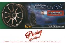 "1:24 Volk Racing CE28 19"" Wheels and Tyres (Bronze)"