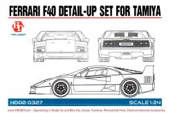1:24 Ferrari F40 - Detail up Set - (PE and Resin) (Tamiya)