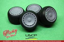 "1:24 Zender Turbo 2 16"" Wheels with Tyres"