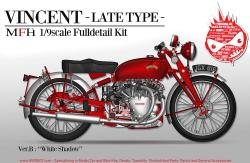 "1:9 HRD Vincent ""White Shadow"" Motorcycle (Late Type)  - Full Detail Multi Media Kit"