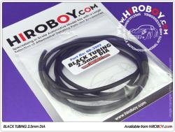 Black Tubing 2.5mm Dia