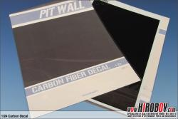1:24 Carbon Fibre Decals Horizontal/Diagonal Pattern