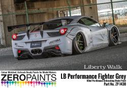 LB Performance Zero Fighter (Combat Style) Grey Paint 60ml (LB☆Works Ferrari 458, Lamborghini Aventador, Murciélago )